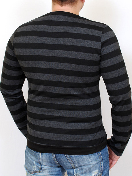 COOPER  футболка длинный рукав черно-серый