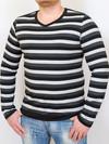 COOPER  футболка длинный рукав синяя полоса