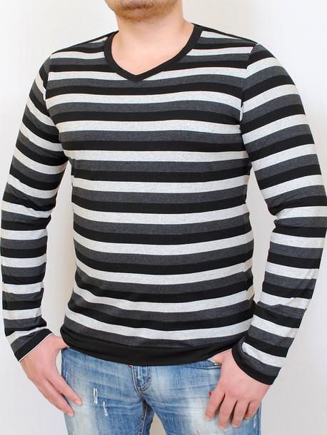 COOPER  футболка длинный рукав мелкая полоса