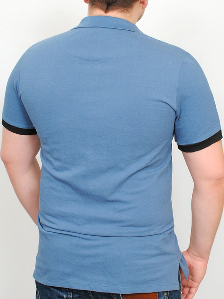 LACOSTA футболка меланж с черным