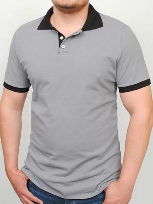 LACOSTA футболка св.серый с черным