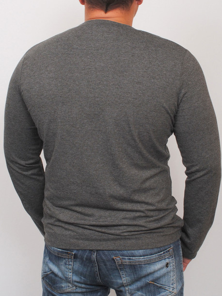MEN LONG  футболка длинный рукав антрацит