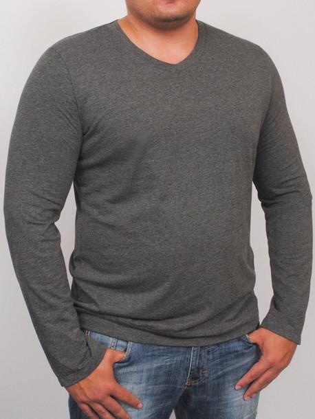 3152b950e7f78 MEN LONG футболка длинный рукав антрацит - Майки и Футболки - GrandUA