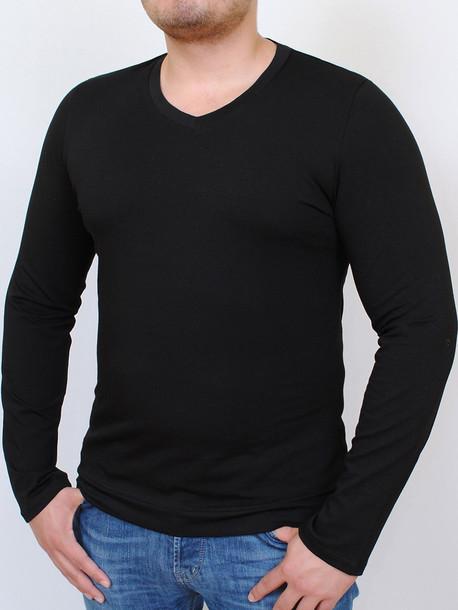 MEN LONG  футболка длинный рукав черный