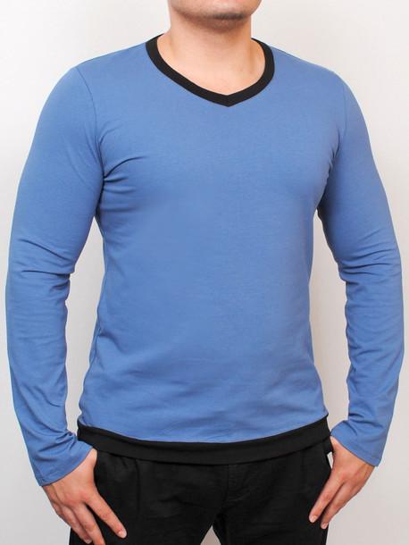 MEN LONG  футболка длинный рукав джинс