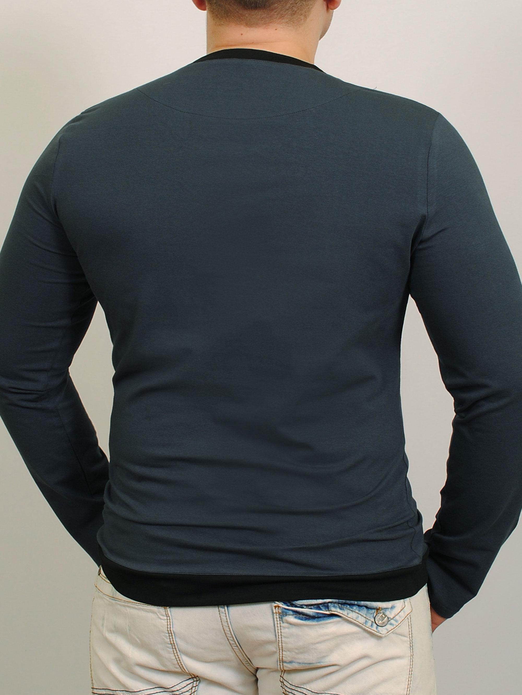 MEN LONG  футболка длинный рукав индиго