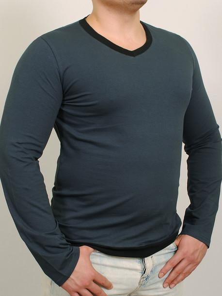 MEN LONG  футболка длинный рукав т.синий