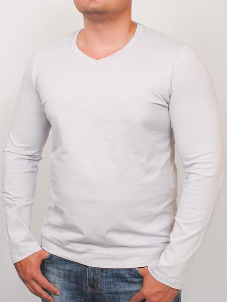 MEN LONG  футболка длинный рукав gray