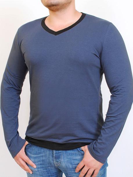MEN LONG  футболка длинный рукав маренго