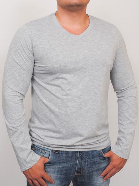 MEN LONG  футболка длинный рукав меланж