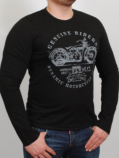 017cc685433b6 MOTOR футболка длинный рукав черный - Майки и Футболки - GrandUA