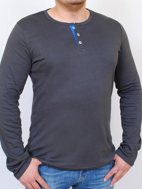 ODYSSEY футболка  длинный рукав черный с графитом