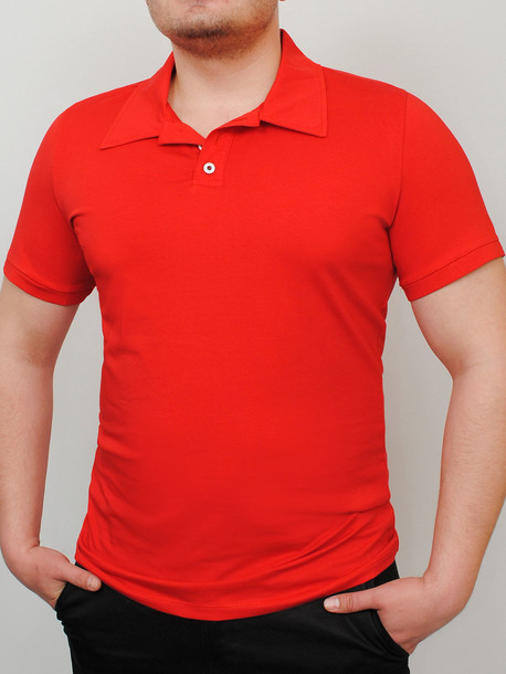 POLO  футболка красный