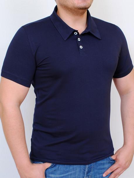 POLO  футболка т.синий