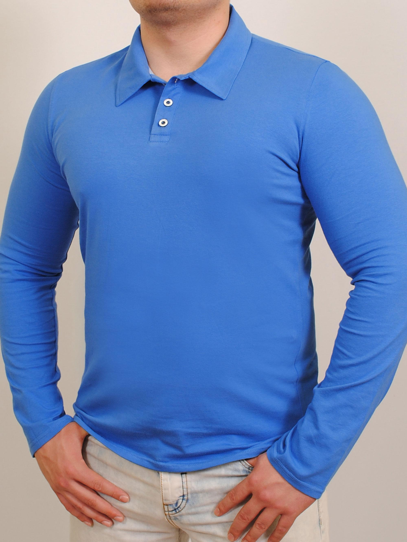 Купить Polo long футболка длинный рукав индиго, grand ua, PFProject мужская одежда