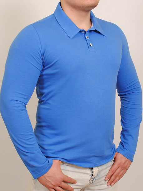 Polo long  футболка длинный рукав индиго