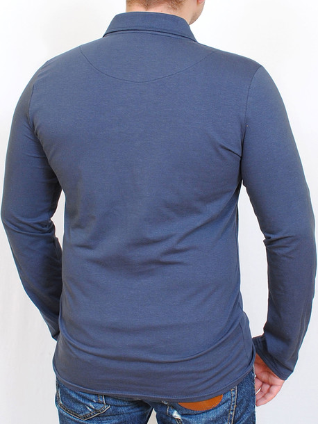 Polo long  футболка длинный рукав маренго