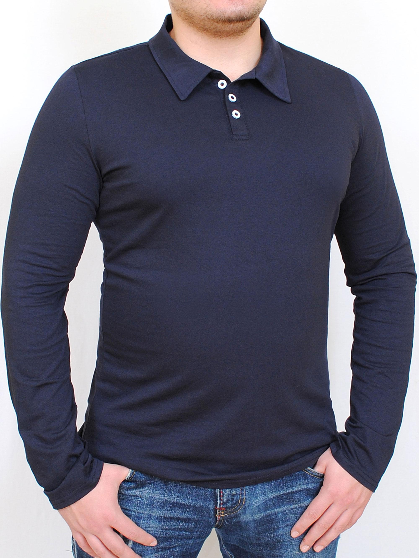 Polo long  футболка длинный рукав черный