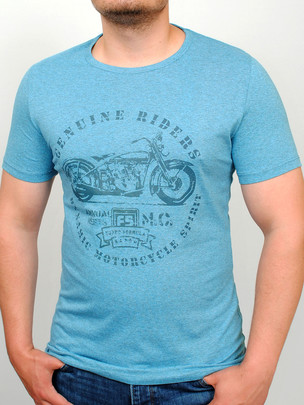 RIDERS  футболка зеленый-меланж