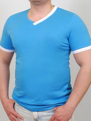 TED  футболка бирюза-белый
