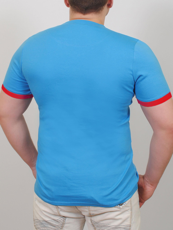TED  футболка бирюза-красный