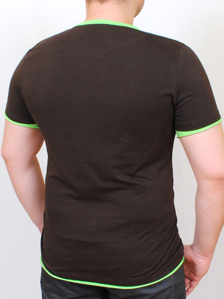 TEQUILA футболка шоколад-салатовый
