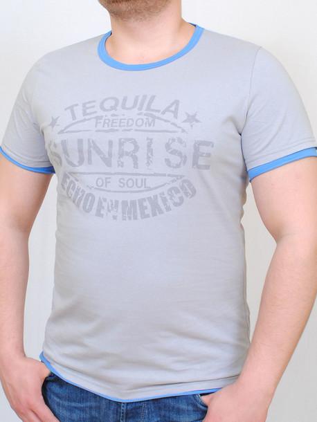 TEQUILA футболка св.серый-бирюза