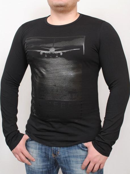 9681263fa56cf TRAVEL long футболка длинный рукав черный - Майки и Футболки - GrandUA