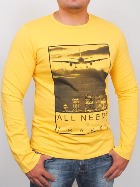 TRAVEL long футболка длинный рукав yellow