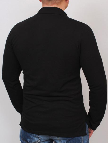 KAYMEN long футболка длинный рукав черный с меланжем