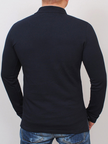 KAYMEN long футболка длинный рукав т.синий