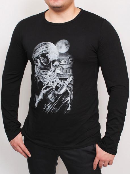 ed6f1d2f30a57 STALKER футболка длинный рукав черный - Майки и Футболки - GrandUA