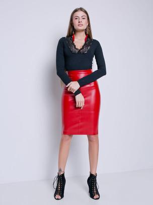 Ладья юбка красный