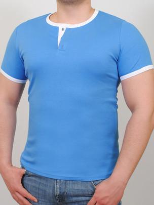 SCORPION футболка бирюза-белый