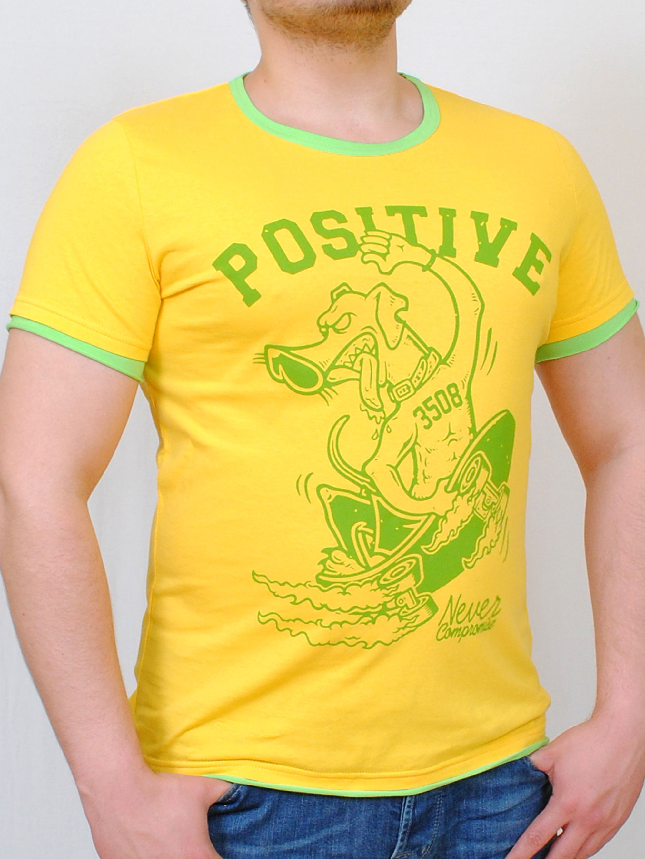 POSITIVE  футболка желтый