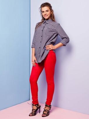 Атом брюки красный
