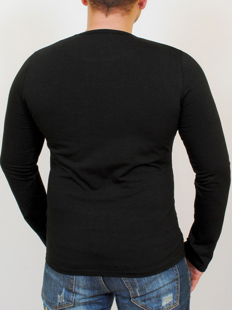 STEP футболка длинный рукав черный
