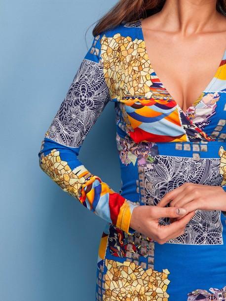 Сильвет платье электрик