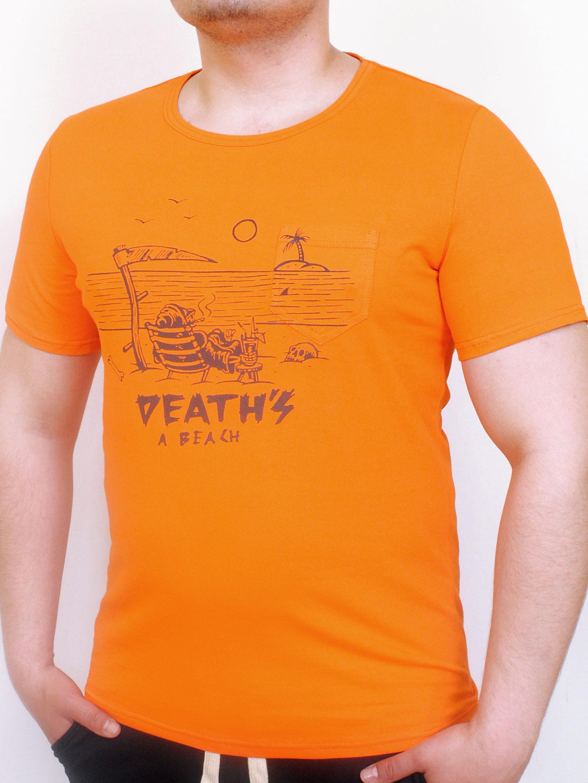 GETAWAY футболка оранжевый