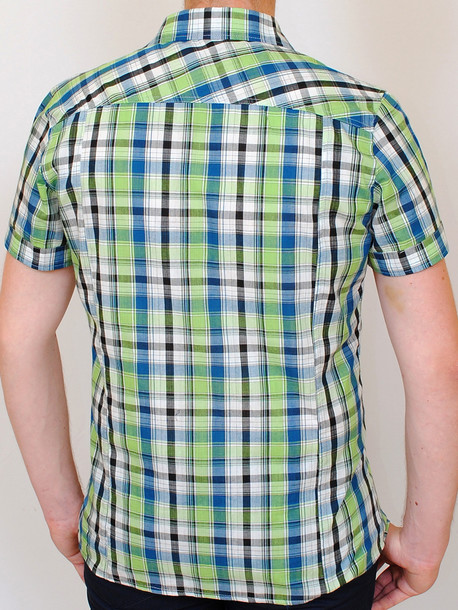 NEVADA рубашка клетка-салатовый
