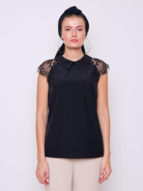 Аврора блуза черный