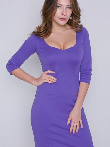 Браво платье лаванда