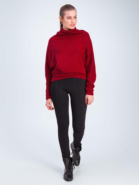 Рони свитер брусничный