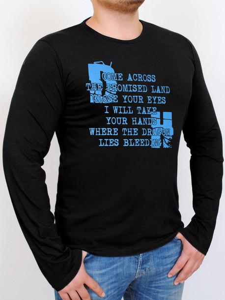 HD футболка длинный рукав черный