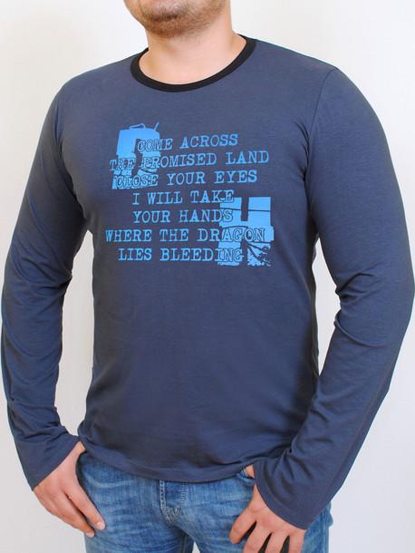 HD футболка длинный рукав маренго