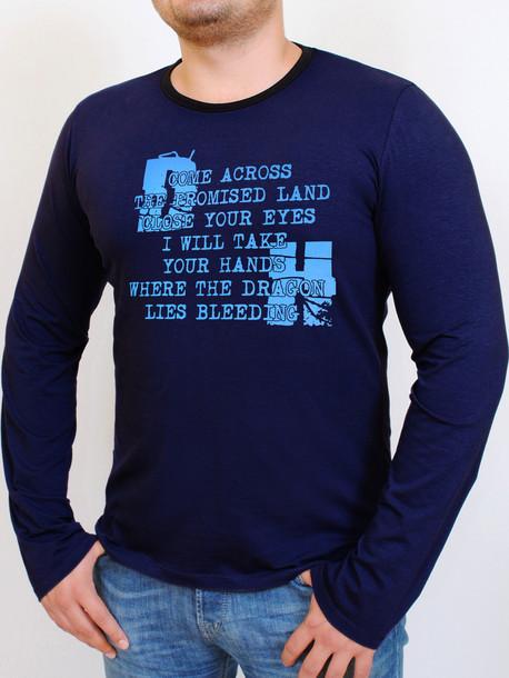 HD футболка длинный рукав т.синий