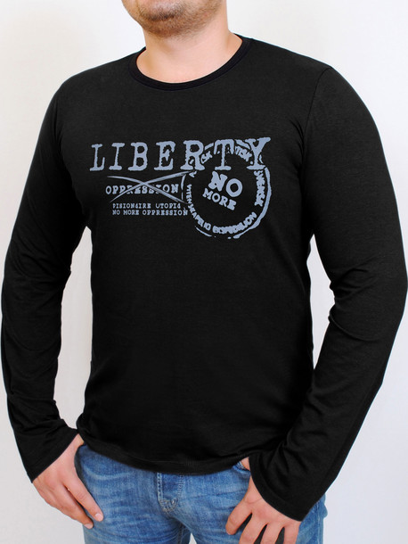 LIBERTY футболка длинный рукав маренго