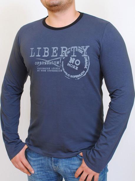 LIBERTY футболка длинный рукав т.синий