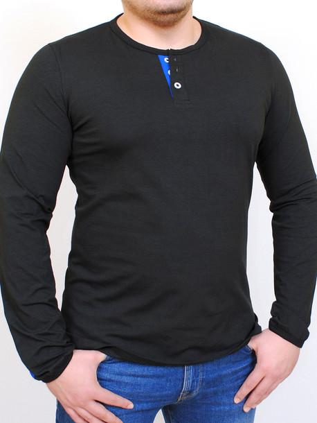 PRIDE футболка длинный рукав черный с ультрамарин