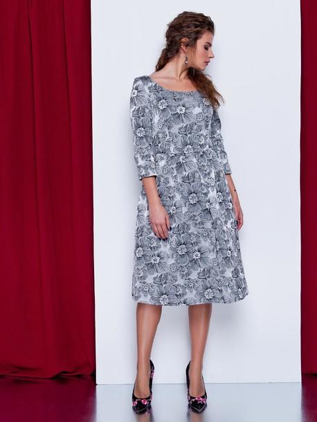 Персис платье серый
